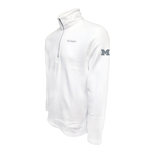 Michigan Columbia Fleece - Grey Thread - White