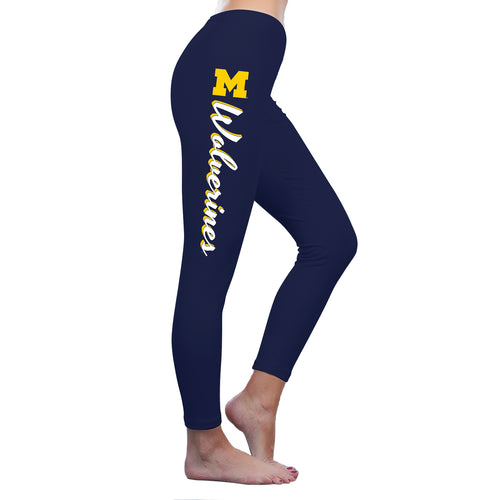 Wolverines Script Leggings - Navy
