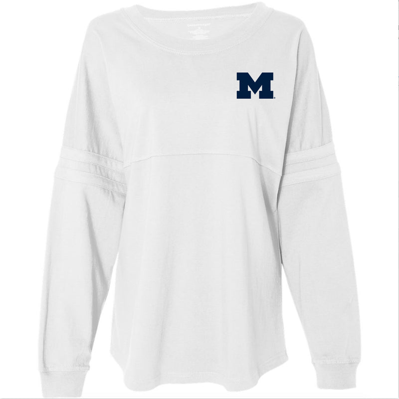Left Chest Spirit University of Michigan Boxercraft Pom Pom Jersey - White