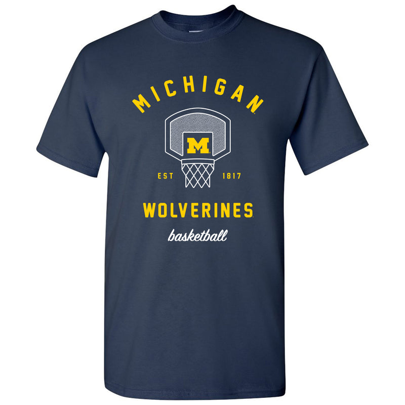 Basketball Net University of Michigan Basic Cotton Short Sleeve T-Shirt - Navy