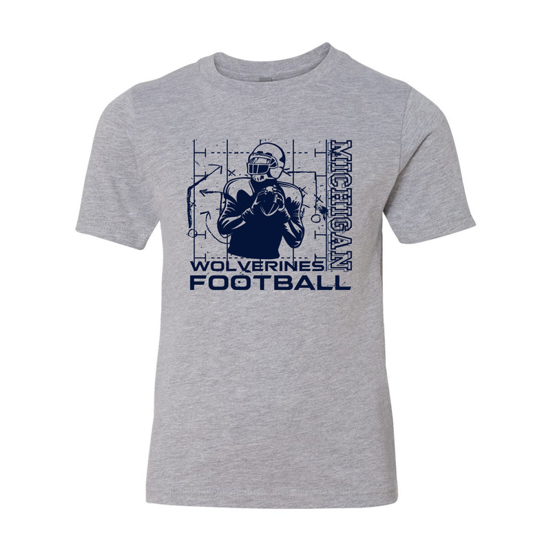 Michigan Football Play Youth - Heather Grey