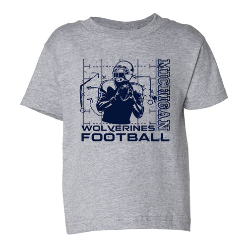 Michigan Football Play Toddler - Heather