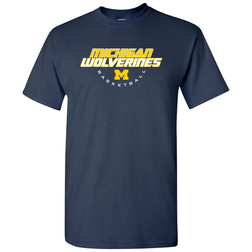 Michigan Basketball Tech T Shirt - Navy