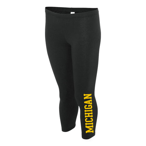 Basic Block University of Michigan Boxercraft Women's Leggings - Black