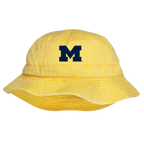 University of Michigan Block M Bo Schembechler Signature Vacationers Cap - Lemon
