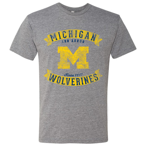 Michigan Vintage Banners - Premium Heather