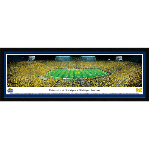 University of Michigan Wolverines Football - 50 Yard - Night - Select Frame