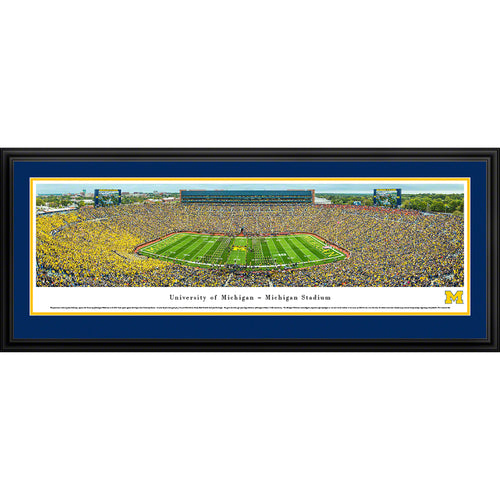 University of Michigan Wolverines Football - 50 Yard Line - Deluxe Frame