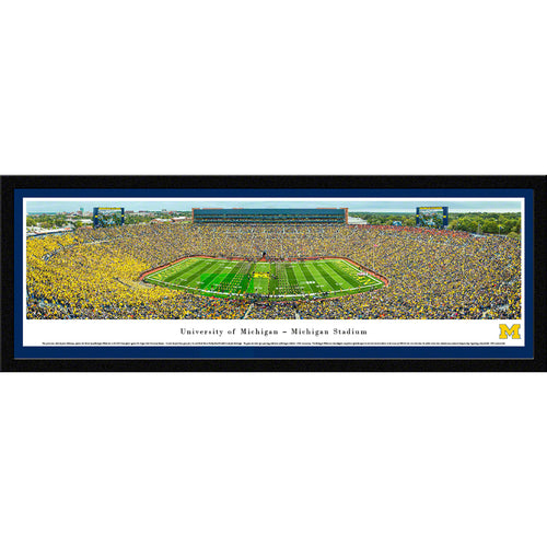 University of Michigan Wolverines Football - 50 Yard Line - Select Frame