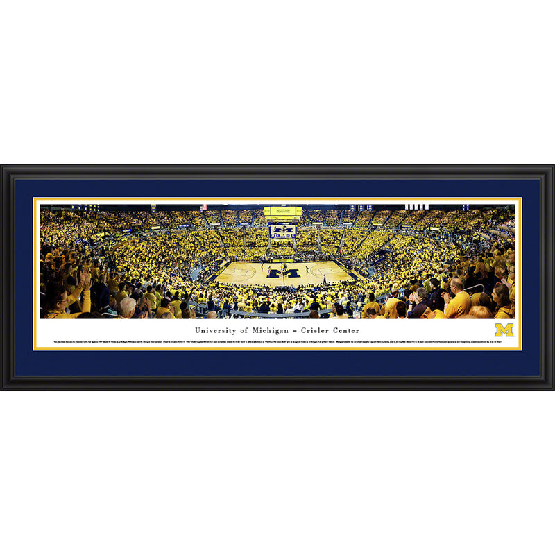University of Michigan Wolverine Basketball - Deluxe Frame