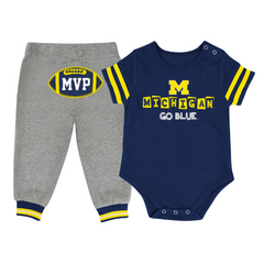 Michigan MVP Creeper/Pant Set