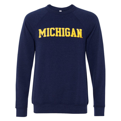 Michigan Sponge Fleece Crewneck - Navy Triblend