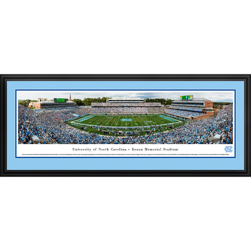 University of North Carolina Tar Heels Football - Deluxe Frame