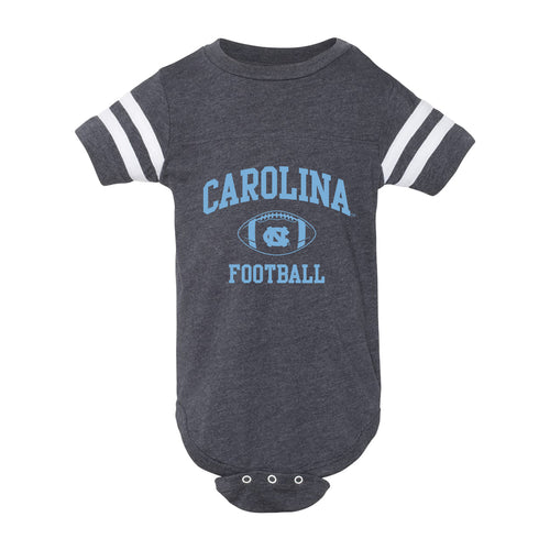 UNC Infant Football Fine Jersey Bodysuit - Vintage Navy/White