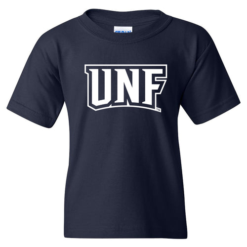 University of North Florida Ospreys Basic Block Youth Short Sleeve T Shirt - Navy