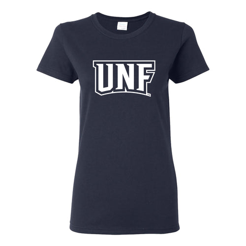 University of North Florida Ospreys Basic Block Womens Short Sleeve T Shirt - Navy
