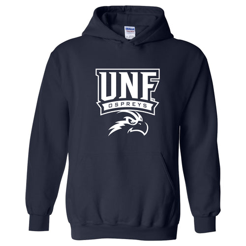 University of North Florida Ospreys Arch Logo Heavy Blend Hoodie - Navy