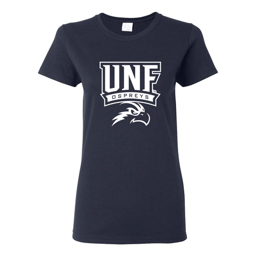 University of North Florida Ospreys Arch Logo Womens Short Sleeve T Shirt - Navy