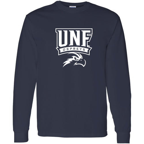 University of North Florida Ospreys Arch Logo Long Sleeve T-Shirt - Navy