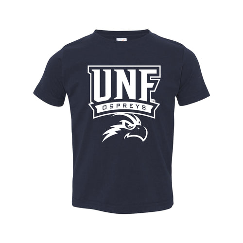 University of North Florida Ospreys Arch Logo Toddler Short Sleeve T Shirt - Navy