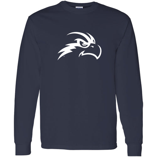 University of North Florida Ospreys Primary Logo Long Sleeve T-Shirt - Navy