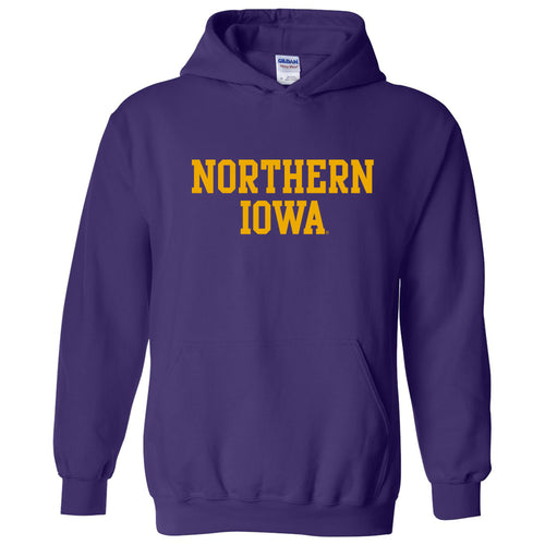 University of Northern Iowa Panthers Basic Block Hoodie - Purple