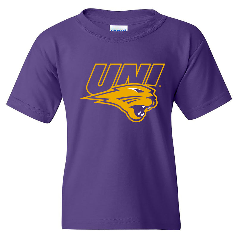 University of Northern Iowa Panthers Primary Logo Youth T Shirt - Purple