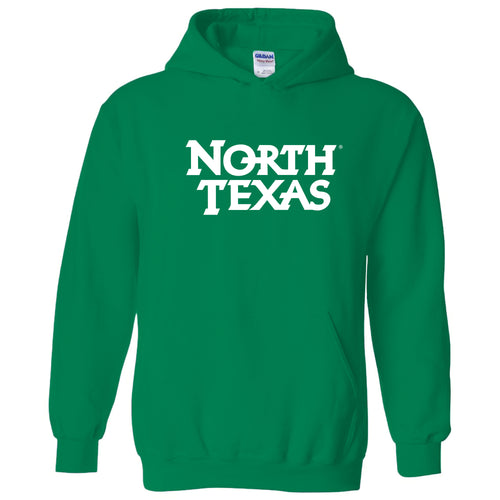 University of North Texas Mean Green Basic Block Cotton Hoodie - Irish Green
