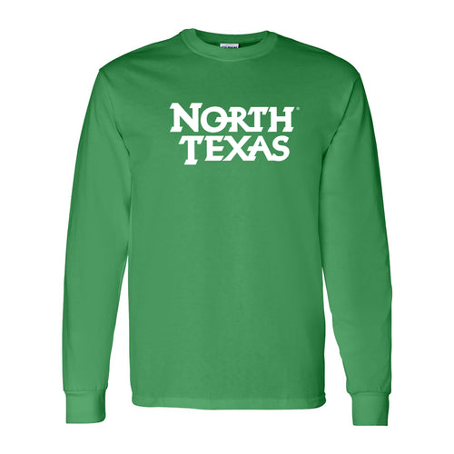University of North Texas Mean Green Basic Block Cotton Long Sleeve T-Shirt - Irish Green