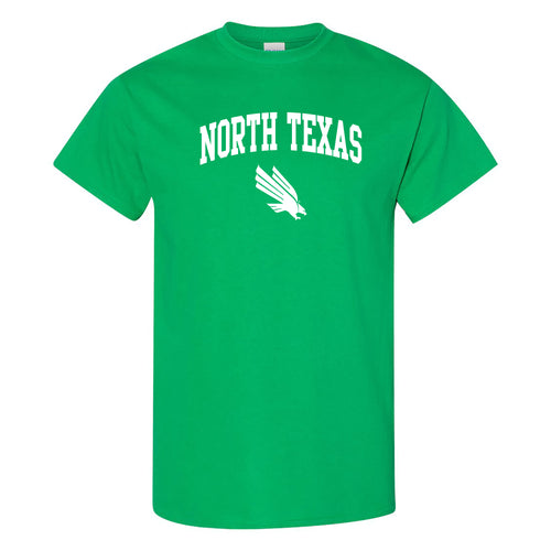 University of North Texas Mean Green Arch Logo Cotton T-Shirt - Irish Green
