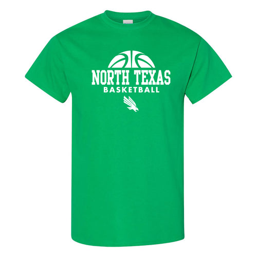 University of North Texas Mean Green Basketball Hype Cotton T-Shirt - Irish Green