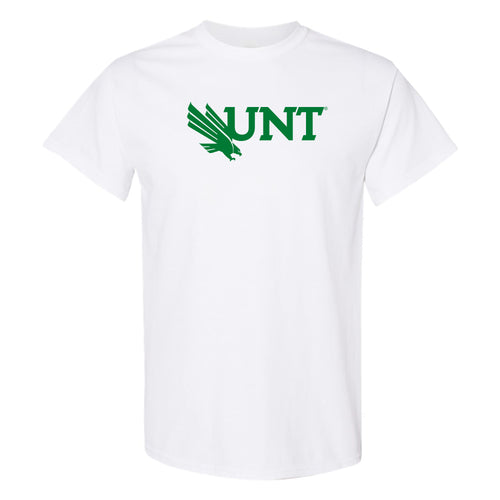 University of North Texas Mean Green Primary Logo Cotton T-Shirt - White