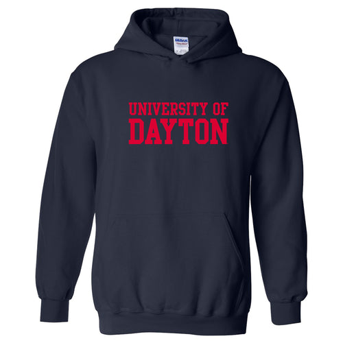 University of Dayton Flyers Basic Block Heavy Blend Hoodie - Navy