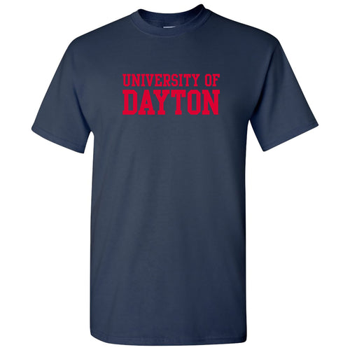 University of Dayton Flyers Basic Block Short Sleeve T Shirt - Navy