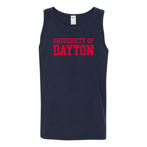 University of Dayton Flyers Basic Block Tank Top - Navy