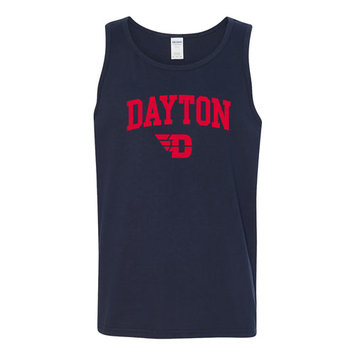 University of Dayton Flyers Arch Logo Tank Top - Navy