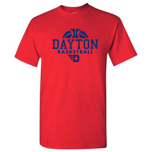 University of Dayton Flyers Basketball Hype Short Sleeve T Shirt - Red