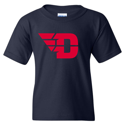 University of Dayton Flyers Primary Logo Youth Short Sleeve T Shirt - Navy