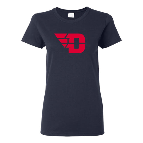 University of Dayton Flyers Primary Logo Womens Short Sleeve T Shirt - Navy