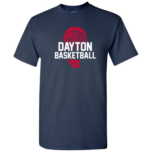 University of Dayton Flyers Basketball Flux Cotton Short Sleeve T Shirt - Navy