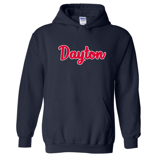 University of Dayton Flyers Basic Script Heavy Blend Hoodie - Navy