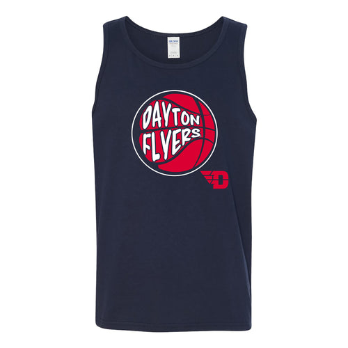 University of Dayton Flyers Street Basketball Heavy Cotton Tank Top - Navy