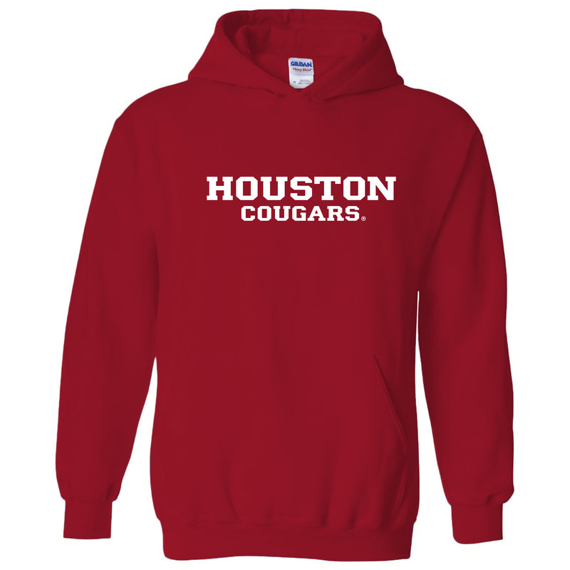 University of Houston Cougars Basic Block Heavy Blend Hoodie - Red