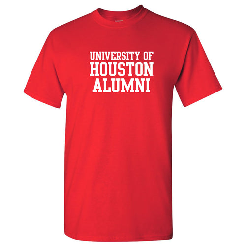 Houston Alumni Block T Shirt - Red