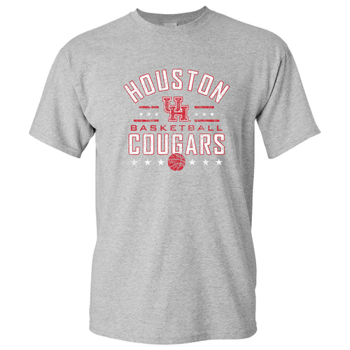 Houston Basketball Arch Stars T Shirt - Sport Grey