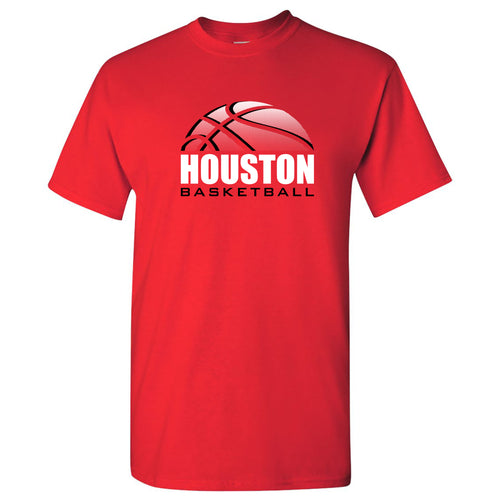 Houston Basketball Shadow T Shirt - Red