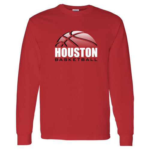 Houston Basketball Shadow Long Sleeve - Red