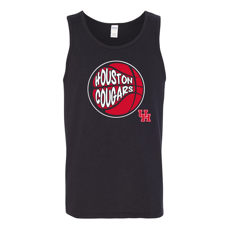 University of Houston Cougars Street Basketball Heavy Cotton Tank Top - Black
