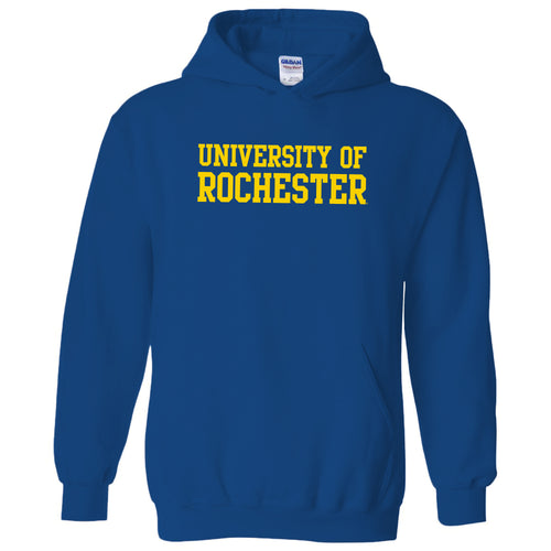 University of Rochester Yellowjackets Basic Block Heavy Blend Hoodie - Royal