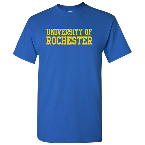 University of Rochester Yellowjackets Basic Block Short Sleeve T Shirt - Royal